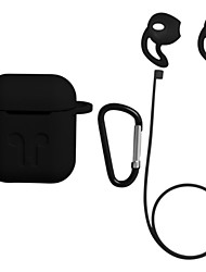 cheap -Airpods Strap / Qi Wireless Charging Cover Case / Ear Hooks Simple Style Apple Airpods Scratch-proof Silicon Rubber