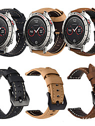 cheap -Genuine Leather Retro Wristband Wrist Strap Watch band For Garmin Fenix Chronos / Approach S40 Smart Watch
