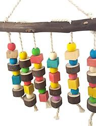 cheap -Bird Perches & Ladders Pet Friendly Focus Toy Felt / Fabric Toys Bird Wood 26 cm