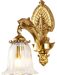 cheap -ZHISHU Creative / Makeup Retro / Traditional / Classic Wall Lamps & Sconces Living Room / Indoor Copper Wall Light 110-120V / 220-240V 5 W