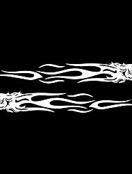 Недорогие -уникальный тигр пламя тотем наклейка светоотражающая наклейка стайлинга автомобилей