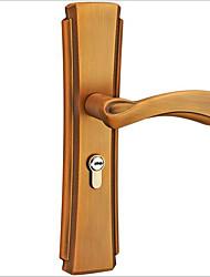 cheap -Door lock indoor solid wood bedroom mechanical antique handle yellow ancient bronze door lock