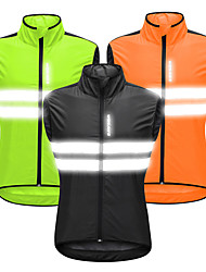 cheap -WOSAWE Men's Sleeveless Cycling Vest Black Orange Green Solid Color Bike Vest / Gilet Windbreaker Jersey Mountain Bike MTB Road Bike Cycling Windproof Sports Clothing Apparel / Stretchy / Advanced