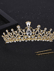 cheap -Crystal / Alloy Tiaras / Hair Accessory with Crystal 1 Piece Wedding / Special Occasion Headpiece