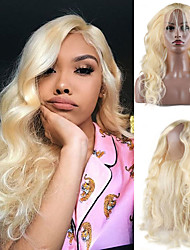 cheap -Human Hair 360 Frontal Lace Front Wig Free Part style Brazilian Hair Body Wave Blonde Wig 130% Density Women Best Quality New New Arrival Hot Sale Women's Medium Length Wig Accessories Human Hair