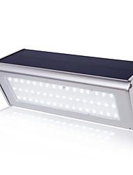 cheap -1pc 6 W Outdoor Wall Lights / Led Street Light Waterproof / Solar / New Design White 3.7 V 48 LED Beads