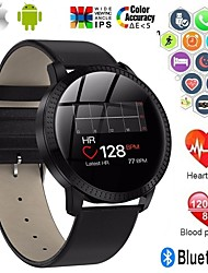 cheap -A18 Stainless Steel Smartwatch BT Fitness Tracker Support Notify/ Blood Pressure Measurement Sports Smart watch for Samsung/ Iphone/ Android Phones