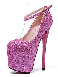 cheap -Women's Heels Stiletto Heel Closed Toe Sequin Synthetics British / Minimalism Fall / Spring & Summer Wine / Blue / Pink / Wedding / Party & Evening