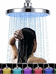 cheap -Contemporary Rain Shower Chrome Feature - Rainfall / LED / Shower, Shower Head