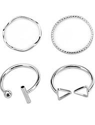cheap -Ring Geometrical Silver Alloy 4pcs / Women's