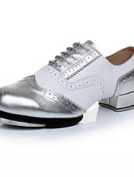 cheap -Women's Dance Shoes Patent Leather Tap Shoes Heel Thick Heel Customizable Silver / Performance / Practice