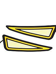 Недорогие -стайлинг автомобиля drl cob светодиодная лампа гибкая drl универсальный дневной ходовой огонь автомобиля лампа поворота сигнал поворота drl cob водонепроницаемый 12 В