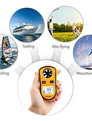 abordables -rz gm8908 anémomètre portable anemometro thermomètre indicateur de vitesse du vent indicateur de vent mètre 30m / s lcd numérique outil de mesure à main