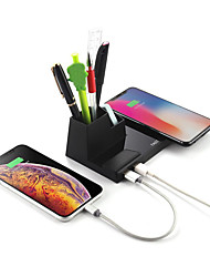 cheap -10W Fast Charging QI Wireless Charger Desktops with Pen Holder