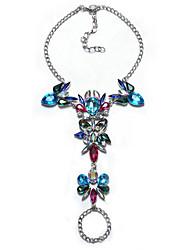 abordables -Bracelet en cristal Femme Géométrique Multicolore Imitation Diamant Bonbon Gros Fantaisie Elégant Européen Bracelet Bijoux Noir Argent Arc-en-ciel Forme Géométrique pour Quotidien