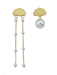 cheap -Women's Mismatch Earrings Mismatched Clouds Stylish Unique Design Elegant Pearl Earrings Jewelry Gold For Daily Street Festival 1 Pair