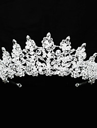 cheap -Crystal / Rhinestone / Alloy Tiaras / Headbands / Headdress with Pearls / Glitter / Crystal / Rhinestone 1 Piece Wedding / Birthday Headpiece