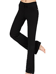 cheap -Women's High Waist Yoga Pants Pants / Trousers Breathable Quick Dry Black Gray Modal Running Fitness Sports Activewear Micro-elastic Loose