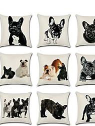cheap -1 pcs Linen Pillow Cover, 3D Animal Classic Fashion Throw Pillow