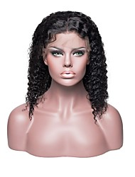 cheap -Remy Human Hair Full Lace Wig style Brazilian Hair Jerry Curl Black Wig 150% Density Easy to Carry Women Sexy Lady Coloring Youth Women's Short Human Hair Lace Wig Factory OEM