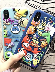 cheap -Case For Apple iPhone XS / iPhone XR / iPhone XS Max Pattern Back Cover Cartoon Soft Silicone