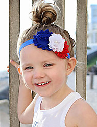 cheap -Cosplay Cosplay Costume Masquerade Kid's Girls' Cosplay American Flag Christmas Halloween Carnival Festival / Holiday Fabric White / Red / Blue Easy Carnival Costumes Floral American / USA