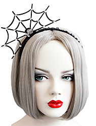 cheap -For Halloween Party Women Cosplay Diamante Spider Net Headwear Delicate Hair Clasp