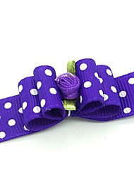 cheap -Dogs Ornaments Hair Accessories For Dog / Cat Bowknot Decoration Polka Dot Metalic Polyester Rubber