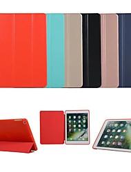 cheap -Case For Apple iPad Pro 9.7 / iPad Mini 3/2/1 / iPad 4/3/2 Auto Sleep / Wake Up / Magnetic Full Body Cases Solid Colored Hard TPU / PU Leather for iPad Pro 9.7'' / iPad (2017) / iPad Pro 10.5