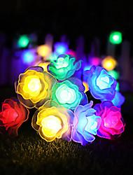 cheap -6m String Lights 30 LEDs Dip Led Warm White / Cold White / Blue Solar / Party / Decorative 2 V 1pc