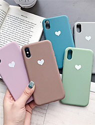 cheap -Case For Apple iPhone XR / iPhone XS Max Pattern Back Cover Heart Soft TPU for iPhone X XS 8 8PLUS 7 7PLUS 6 6PLUS 6S 6S PLUS