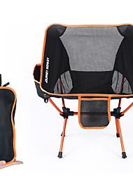abordables -chaise de camping avec poche latérale Portable Ultra léger (UL) Pliable Confortable Maille 7075 Alliage d'aluminium pour Camping / Randonnée Pêche Plage Extérieur Automne Printemps Orange Bleu