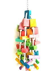cheap -Bird Perches & Ladders Pet Friendly Focus Toy Felt / Fabric Toys Parrot Wood 50 cm