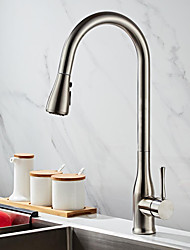 cheap -Kitchen faucet - Single Handle One Hole Painted Finishes Pull-out / Pull-down Free Standing Contemporary Kitchen Taps