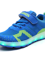 cheap -Boys / Girls USB Charging  LED / LED Shoes Faux Leather / Flyknit Sneakers Little Kids(4-7ys) / Big Kids(7years +) Walking Shoes LED Black / Blue / Pink Spring / Summer / Rubber