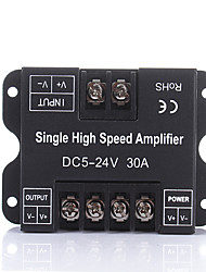 cheap -DC5V 12V 24V 30A Single Color LED Amplifier Data Signal Repeater 1CH 1 Channel Dimmer Power Amplifier for White LED Strip Lights