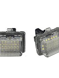 Недорогие -белый номерной знак светодиодный свет ошибка бесплатно для BenZ W204 W207 W216 W212 W221 R231
