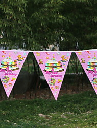 cheap -Holiday Decorations Holidays & Greeting Pull Flag Party Pink 1pc