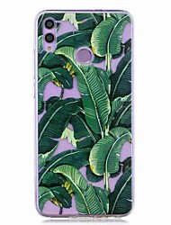 cheap -Case For Huawei Honor 8X / Huawei P Smart (2019) Pattern / Transparent Back Cover Banana Tree Soft TPU for Mate20 Lite / Mate10 Lite / Y6 (2018) / P20 Lite / Nova 3i / P Smart / P20 Pro