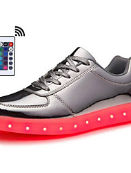 cheap -Men's Light Up Shoes Rubber / PU Spring & Summer / Fall & Winter LED / Casual / Preppy Sneakers Walking Shoes Breathable Booties / Ankle Boots Black / White / Gold / Party & Evening / Party & Evening