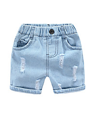 cheap -Kids Boys' Basic Street chic Solid Colored Hole Ripped Cotton Jeans Light Blue