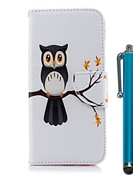 cheap -Case For Samsung Galaxy A50(2019) / A20s / S10 PlusWallet / Card Holder / with Stand Full Body Cases Tree Owl PU Leather / TPU for A10(2019) / A40(2019) / S10 e / J6 Plus 2018 / Note 10 Plus