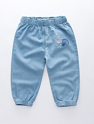 cheap -Kids Boys' Basic Street chic Solid Colored Embroidered Cotton Jeans Light Blue