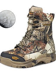 cheap -Men's Hiking Shoes Hunting Shoes Hiking Boots Waterproof Windproof Breathable Rain Waterproof Camo / Camouflage Hunting Hiking Autumn / Fall Winter Brown+Gray / Anti-Slip
