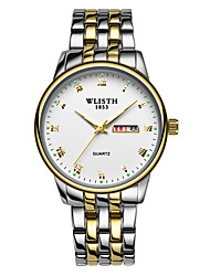cheap -WLISTH Men's Steel Band Watches Analog Quartz Classic Calendar / date / day Day Date