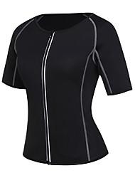 cheap -Men's / Women's Zipper Overbust Corset - Solid Colored / Fashion, Lace / Sporty / Stylish Black XL XXL XXXL