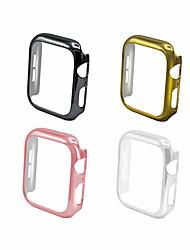 Недорогие -чехол для яблочных часов 44мм 40мм розовое золото iwatch защитная оболочка