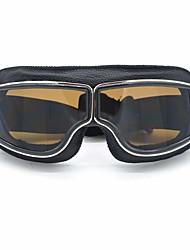 cheap -Leather Vintage Scooter Goggles Pilot Ski Sunglasses Helmet Eyewear
