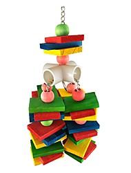 cheap -Bird Toys Pet Friendly Bird Wood 10*10*30 cm