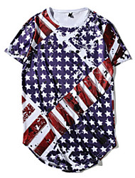 cheap -Adults' Men's Women's Cosplay American Flag Cosplay Costume T-shirt For Halloween Daily Wear Cotton Independence Day T-shirt